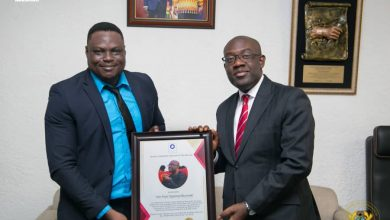 Photo of Oppong Nkrumah honoured for apt management of Government information