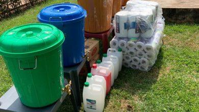 Photo of Salt media / Salt FM donates Sanitisers, Detergent, Soaps, other cleaning materials to Agogo Hospital