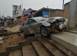 Photo of Porridge seller dies in freak motor crash in Kumasi