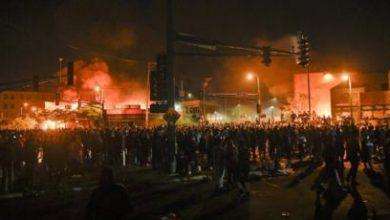Photo of George Floyd: Protesters set Minneapolis police station ablaze