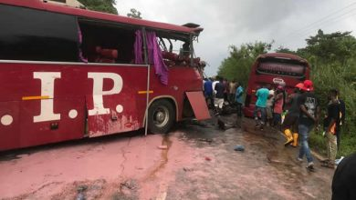 Photo of E/R:Two dead after VIP buses crash on Asiakwa-Kyebi road