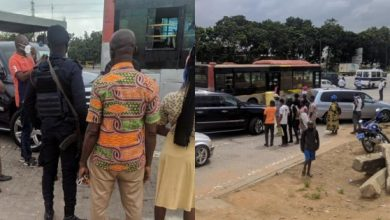 Photo of Bus driver in trouble after 'scratching' Kennedy Agyapong's Escalade
