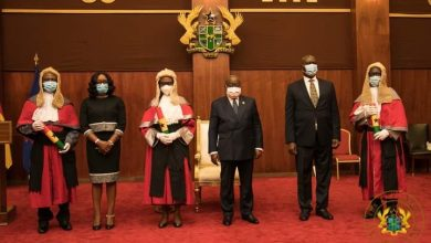 Photo of President Akufo-Addo swears in six justices of the Court of Appeal