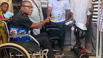 Photo of Agogo Worldwide Association donates wheelchair, cash to a physically challenged man in Agogo