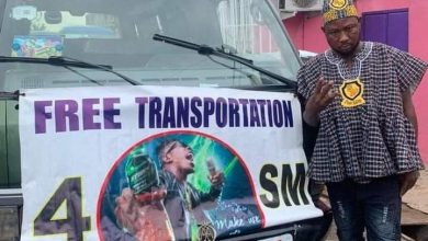 Photo of Photos: Trotro driver honors promise of providing free transportation for all SM fans