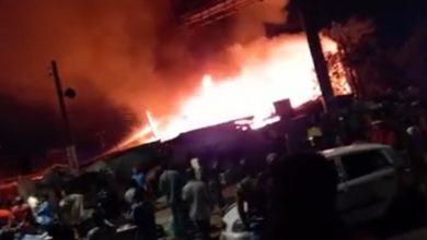 Photo of Fire destroys Odawna Market [Video]