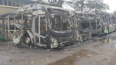 Photo of Photo: Aayalolo buses burnt to ashes in Kumasi
