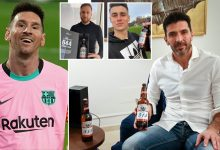 Photo of Photos: Budweiser send a beer to EVERY keeper Messi has scored against