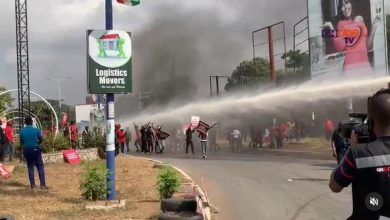 Photo of Election 2020: NDC protest at EC HQ turns bloody as supporters clash with police[Photos+Videos]
