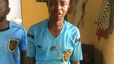 Photo of Photos: Supporters of Division One side beat up referees