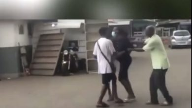Photo of Video: Pregnant girl storms Legon campus, publicly harasses estranged boyfriend over refusal to take responsibility