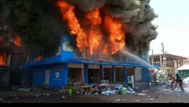 Photo of Photos: Latex Foam warehouse, several other shops razed by fire in Techiman