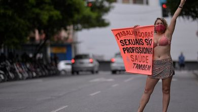 Photo of Photos: Brazilian sex workers go on strike to demand they are among 'front line' workers to get 'priority' Covid-19 vaccines