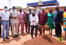 "Photo of President Akufo-Addo Cuts Sod For Gh¢5 Million ""Ghana Award House"""
