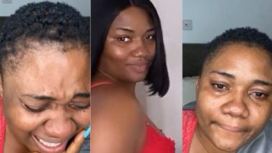 Photo of Video: Abena Korkor weeps as she announces her sack from TV3