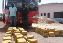 Photo of Photos: Bus carrying 'weed' to Niger impounded by Ghana Police