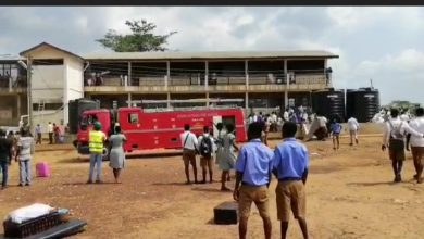 Photo of A/R: Nsutaman SHS girls' dormitory gutted by fire