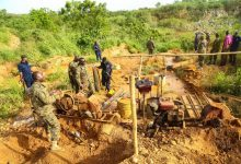 Photo of Galamsey operatives' work for our contract staff – National Security