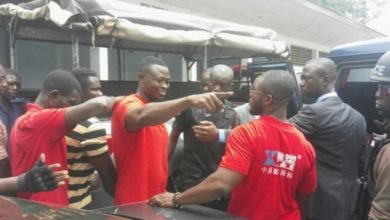 Photo of Delta Force founder, other members arrested for attempting to remove Ashanti Regional security coordinator