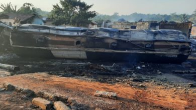 Photo of Photos: Fuel tanker explosion burns through a small town in the Ashanti Region