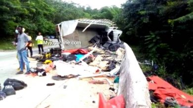 Photo of Photos: Six dead including a child in tragic accident at Kwahu-Atibie
