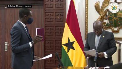 Photo of Video: Kissi Agyebeng sworn-in as Special Prosecutor